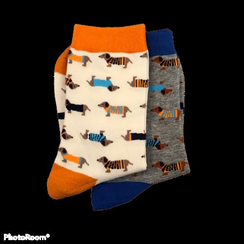 Lange sokken met teckels