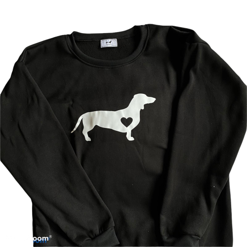 Zwarte teckel sweater