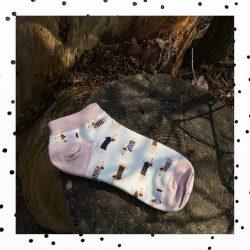 Roze teckel sokken