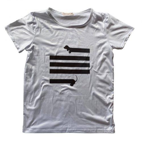 wit teckel shirt