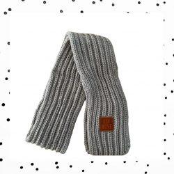 Teckel sjaal in het grijs