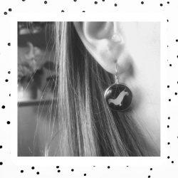 teckel oorbellen