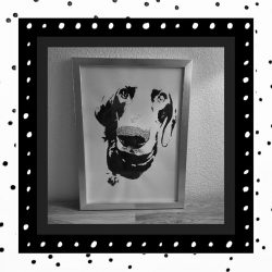 handgemaakt teckel portret