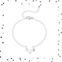 zilveren teckel armband