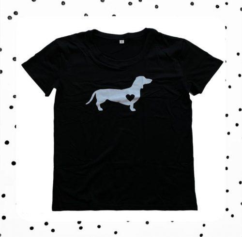 zwart teckel shirt