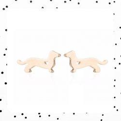 gouden teckel oorbellen